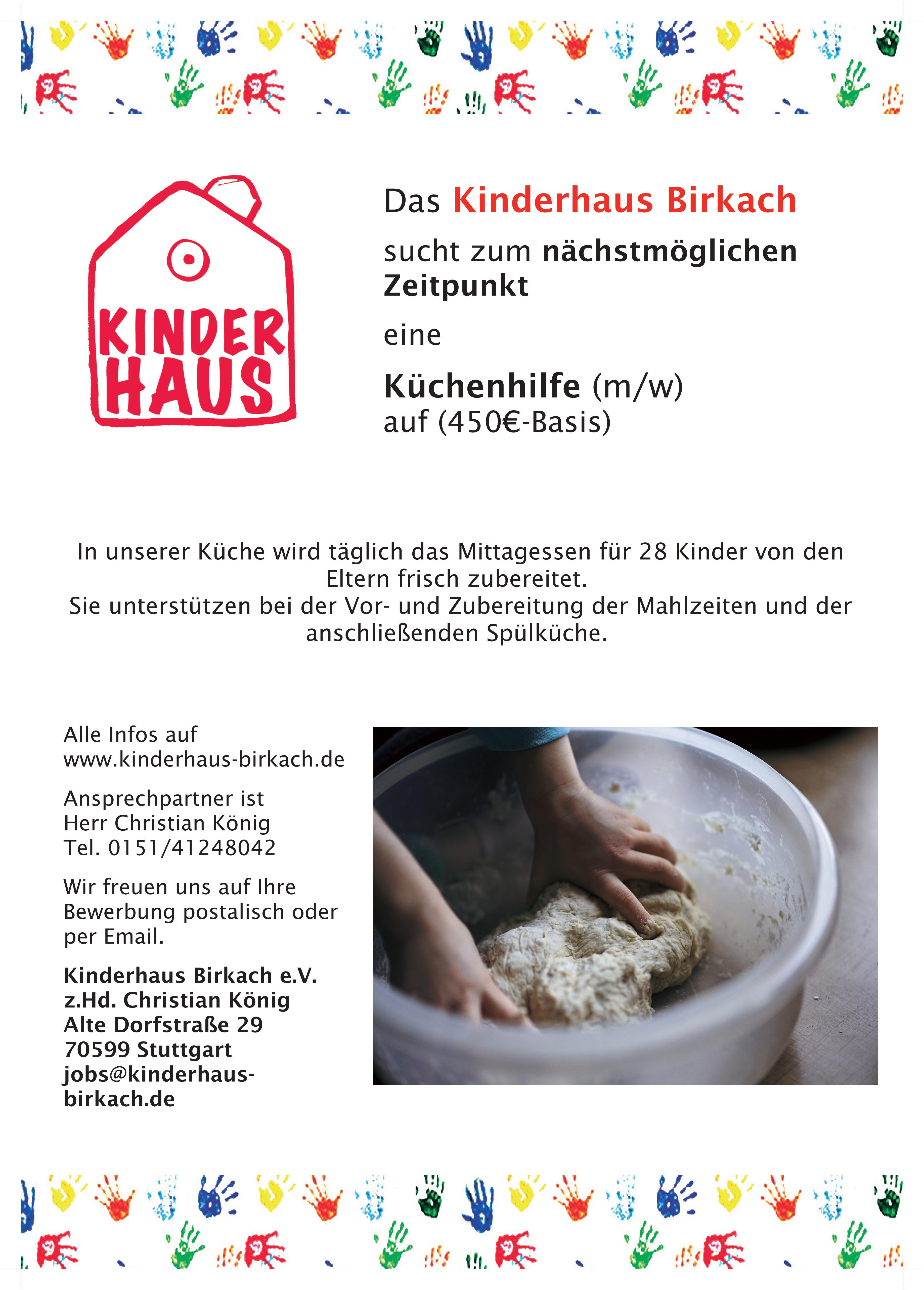 Küchenhilfe Kinderhaus Birkach